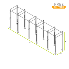 CAP+ 24-foot Free Standing Rig System - 6 Squat/Bench Stations