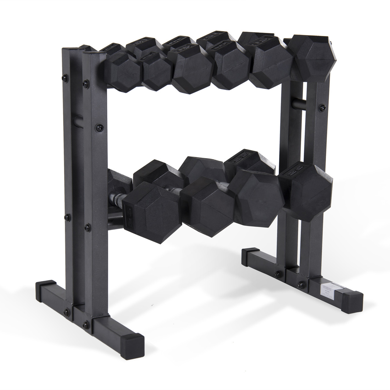 99b2fa29f69 CAP Barbell 150 lb Rubber Dumbbell Set with Rack. Price   199.99. Image 1