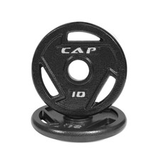 CAP Barbell Cast Iron 2-Inch Olympic Grip Plate for Strength Training, Muscle Toning, Weight Loss & Crossfit - Charcoal