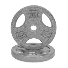 CAP Barbell Cast Iron 1-Inch Standard Grip Plate for Strength Training, Muscle Toning, Weight Loss & Crossfit - Grey