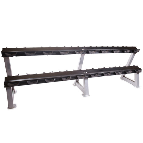 "95"" Two-Tier Dumbbell Rack with Saddles"