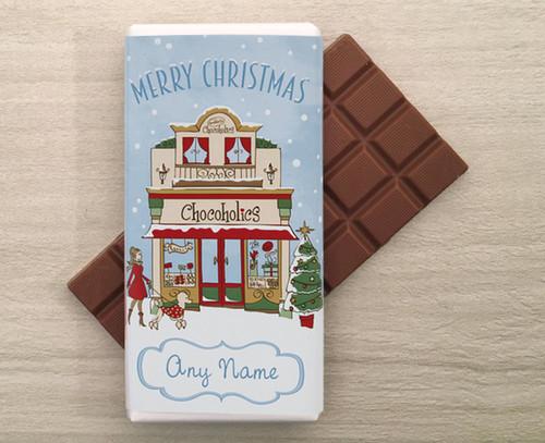 Personalised Chocoholics Shop Chocolate Bar