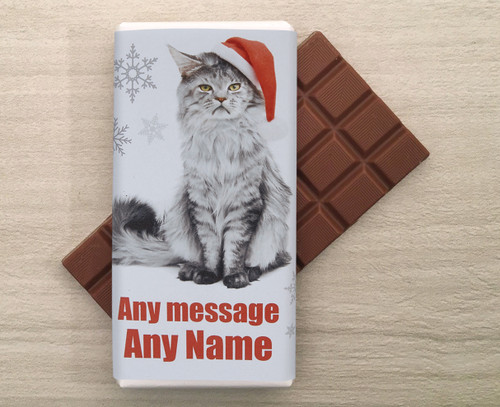 Personalised Miserable Moggy Chocolate Bar