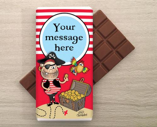 Personalised Pirate Milk Chocolate Bar