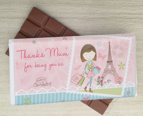 Milk Chocolate bar to say Thank You to your Mum from Chocolates for Chocoholics