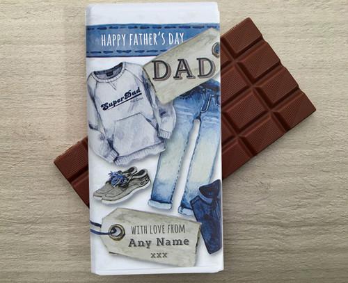 Denim Dad Chocolate Bar 100g