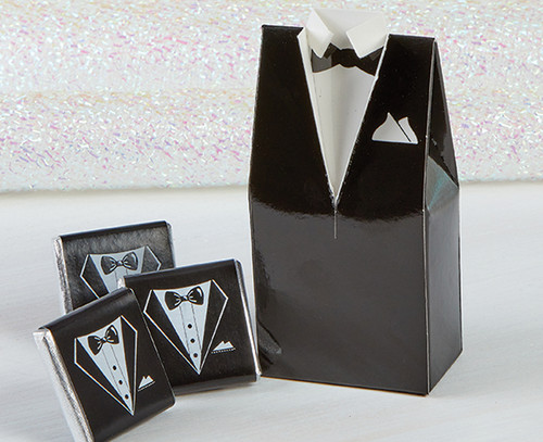 7398 Classic Black Tuxedo with milk mint chocolates