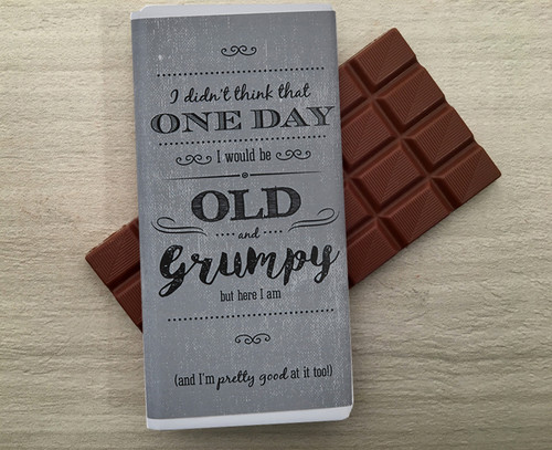 Milk chocolate bar for someone who is old and grumpy from Chocolates for Chocoholics