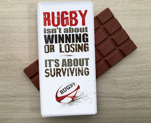 Milk Chocolate Bar for a Rugby Player  from Chocolates for Chocoholics