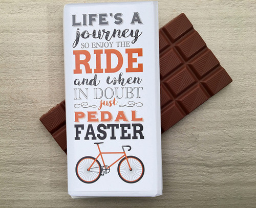 Milk Chocolate Bar for the cycling fan from Chocolates for Chocoholics