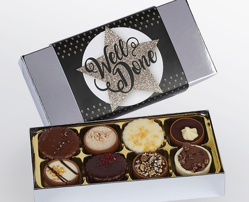 Well Done 8 Luxury Chocolate Box for great achievement