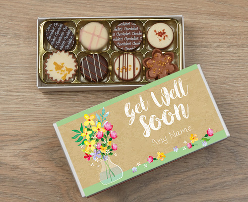 Personalised Get Well Soon 8 Luxury Chocolate Box