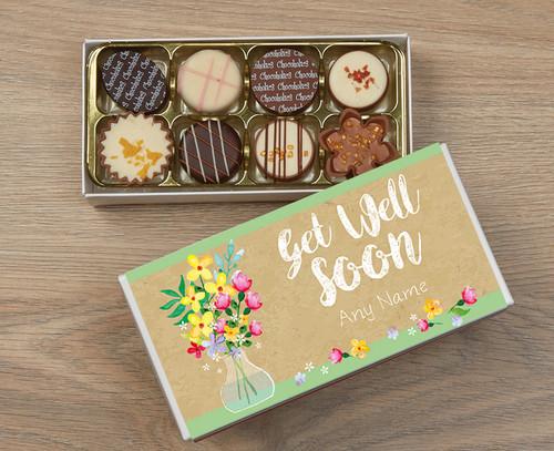 Personalised Get Well Soon 8 Luxury Chocolate Box