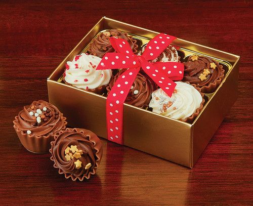 7201 Festive Chocolate Cupcake Selection - Cocoa Couture