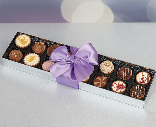 Dessert Cup Chocolate Assortment in Silver Box
