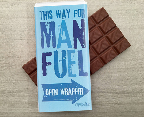 Milk chocolate bar for the man in your life from Chocolates for Chocoholics