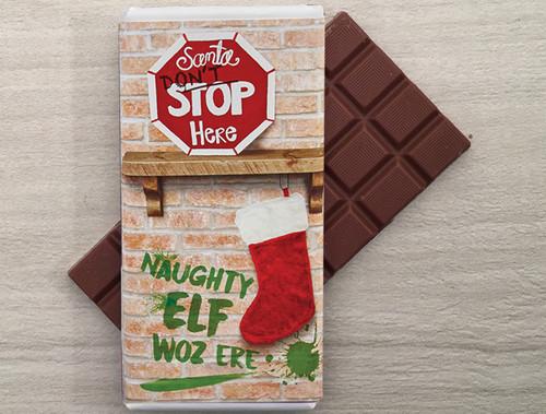 7879 Naughty Elf Milk Chocolate Bar