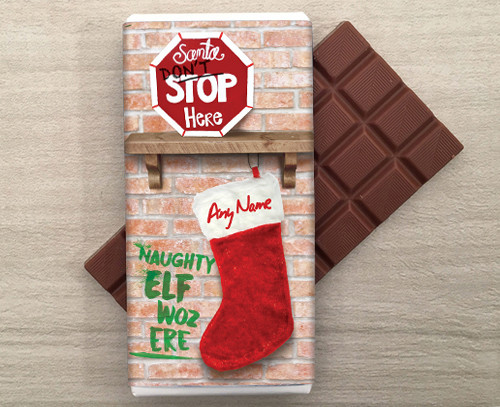 Personalised Naughty Elf Chocolate Bar
