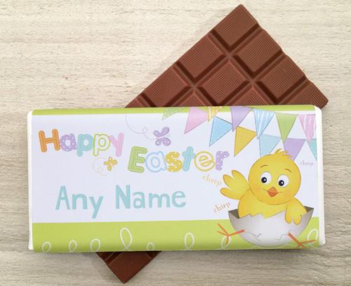 Personalised Chick Design Milk Chocolate 100g Bar - 9224