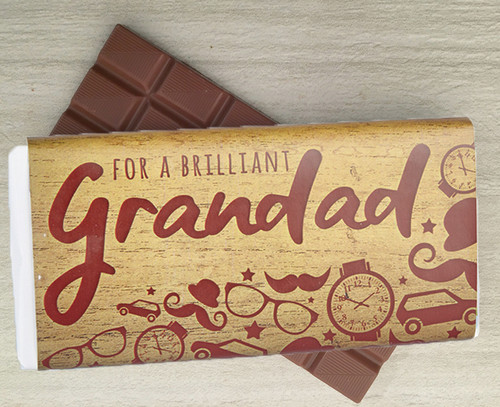Brilliant Grandad Chocolate Bar 100g 8709