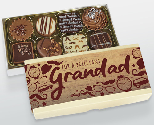 Fathers Day Gift for your Brilliant Grandad - a Luxury Box of Chocolates to Tell Them How Much You Love Them. 8540
