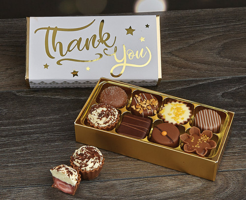 Luxury Box of 8 Belgian Chocolates as a Thank You