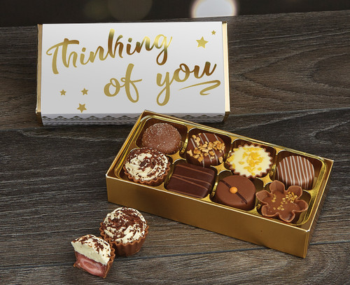 Send a  luxury chocolates from Chocolates for Chocoholics to someone to tell them you are thinking about them.