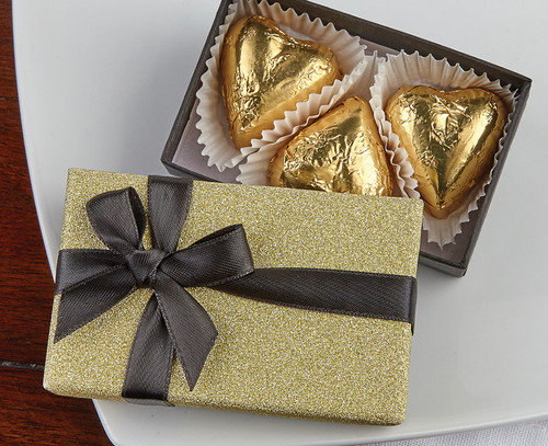 Gold Heart Trio Gift Box