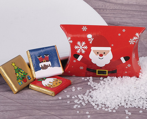 Father Christmas Pillow with Milk Chocolates