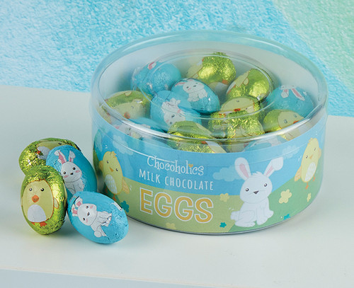8402 Milk Chocolate Foiled Eggs in Drum
