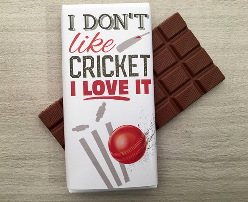 Celebrate the Cricket World Cup with this 100gm bar of milk chocolate from Chocolates for Chocoholics