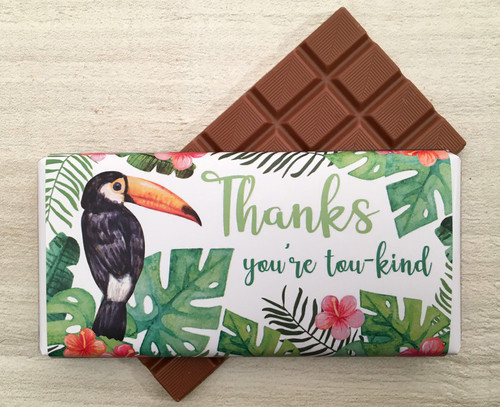 Thanks Toucan Design Milk Chocolate Bar