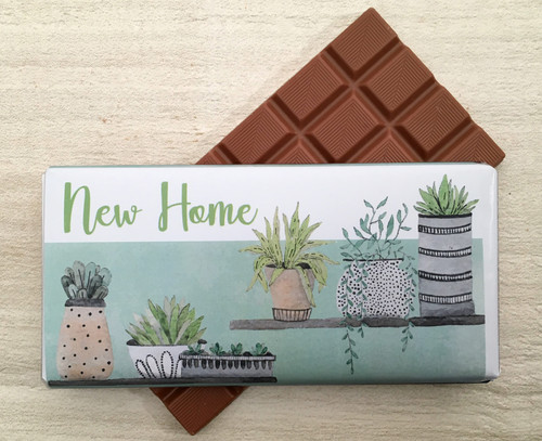 New Home - Plant Design Milk Chocolate Bar