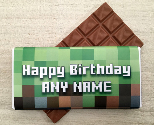 Personalised Blocks Gaming design Milk Chocolate Bar