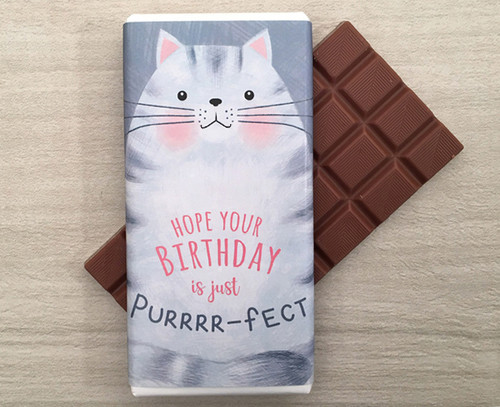Milk Chocolate Bar 100g - Purrrr-fect Birthday