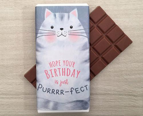 Milk Chocolate Bar 100g - Purrrr-fect Birthday