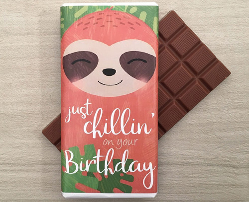 Milk Chocolate Bar 100g - Just Chillin' Birthday