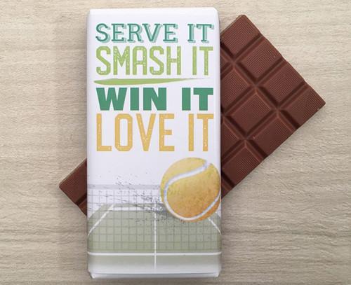 Celebrate the Tennis season with a 100g bar of Milk Chocolate