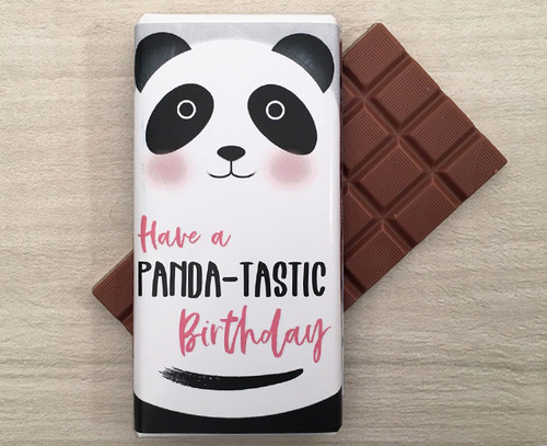 Birthday Milk Chocolate Bar 100g - Panda design