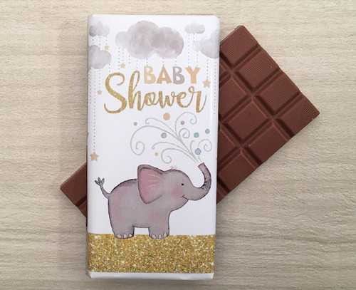 Baby Shower 100g milk chocolate bar