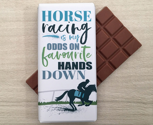 Enjoy a day at the Races with a 100g bar of Milk Chocolate