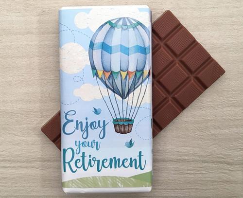 Enjoy Your Retirement Hot Air Balloon Design Milk Chocolate Bar