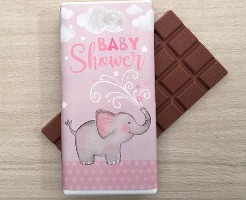 Baby Shower Pink 100g milk chocolate bar