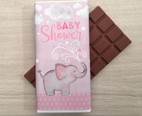 Baby Shower Pink 100g milk chocolate bar