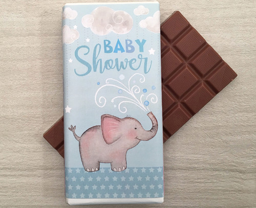 Baby Shower Blue 100g milk chocolate bar