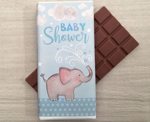 Baby Shower Blue 100g milk chocolate bar