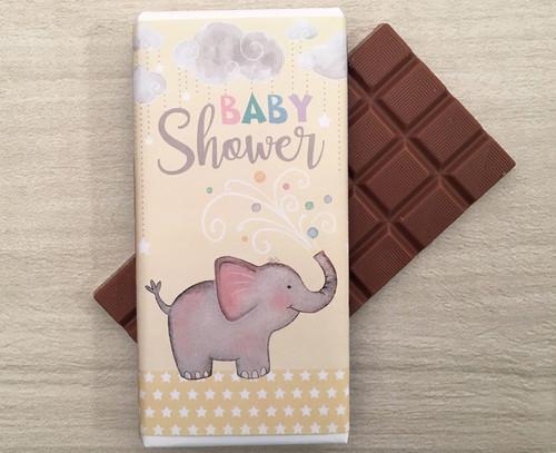 Baby Shower Yellow 100g milk chocolate bar