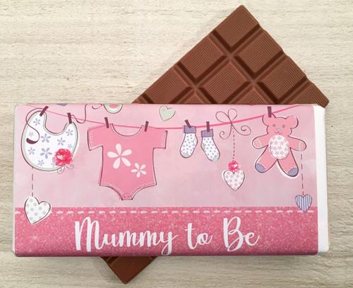 Mummy To Be Pink 100g milk chocolate bar