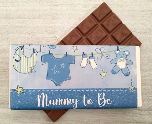 Mummy To Be Blue 100g milk chocolate bar