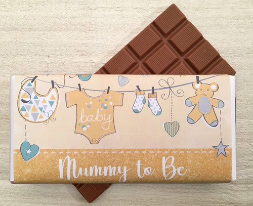 Mummy To Be Yellow 100g milk chocolate bar